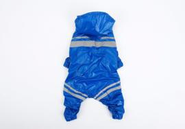 Regen pakje Blauw voor honden maat XXL