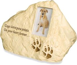 Honden Urn - Rots met Fotolijstje - Gratis Verzending
