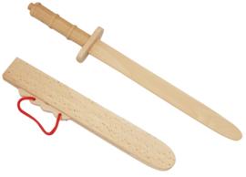 Houten Zwaard met Schede Lengte 42 cm