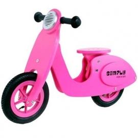 Houten Loopfiets Scooter Roze Simply