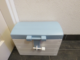 Houten Speelgoedkist, Schatkist, Geboortekist Wit/blauw nr. 1