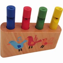 Fluit met 4 Verschillende Geluiden