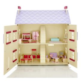 Poppenhuis Cottage met Open  Klapbare Voorkant