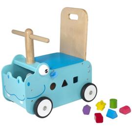 Loop / Duwwagen Nijlpaard I'm Toy 88000