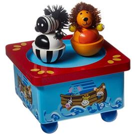 Muziekdoos Dansende Leeuw en Zebra
