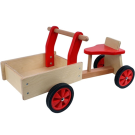 Houten Bakfiets Rood, Smalle wielen