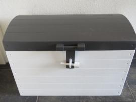 Speelgoedkist Schatkist  Wit/Stone Grey met Bol Deksel XL Nr. 4