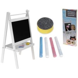 Schoolbord Wit met Plateau Inclusief Krijt en Wisser