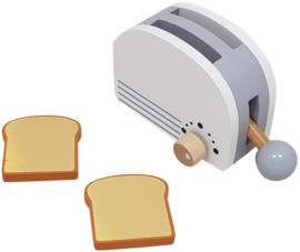 Broodrooster Wit/Zilver Inclusief 2 Boterhammen
