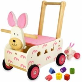 Duwwagen Konijn I'm Toy 87250