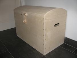 Speelgoedkist, Schatkist, Opbergkist blank met Bol Deksel XL Nr. 4