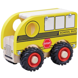 Schoolbus met Rubberen Wielen