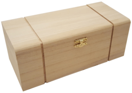 Kistje Rechthoek met 4 Vakken Paulownia 4216
