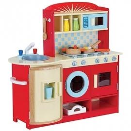 Kinder Keuken Rood Inclusief Accessoires Mentari