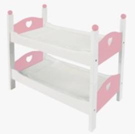 Poppen Stapelbedje Wit/Roze
