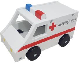 Ambulance Groot met Houten Wielen