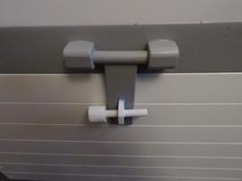 Speelgoedkist Schatkist Wit/Platina Grijs met Bol Deksel XL Nr. 4