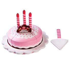 Verjaardagstaart met 3 Kaarsjes