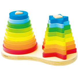Regenboog Piramide Dubbel