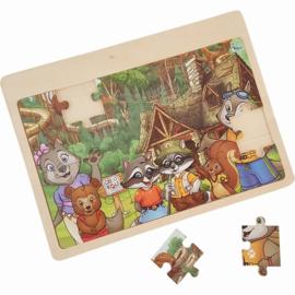 Puzzel Dieren in het Bos