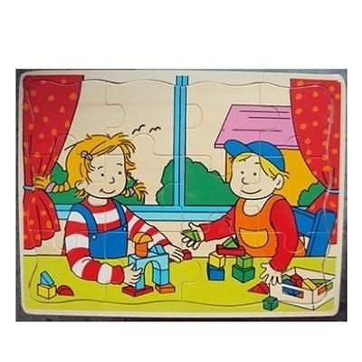 Houten Puzzel Jongen en Meisje