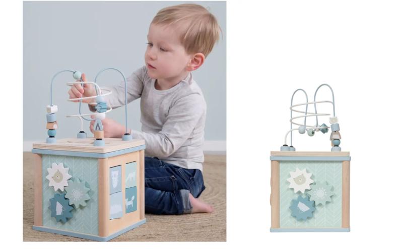 Little Dutch Activiteitenkubus Mint/Blauw