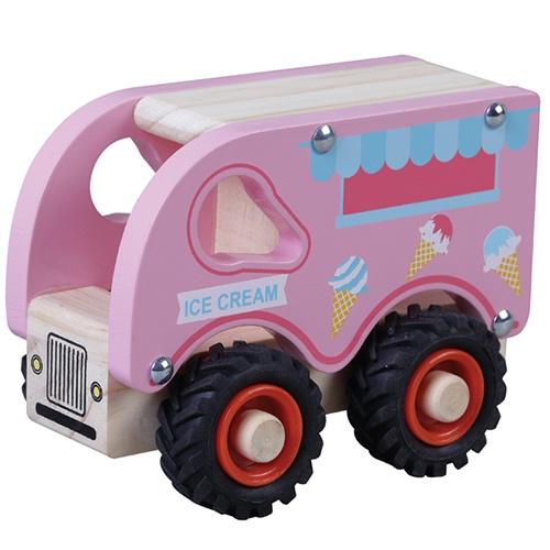 IJscowagen Roze met Rubberen Wielen