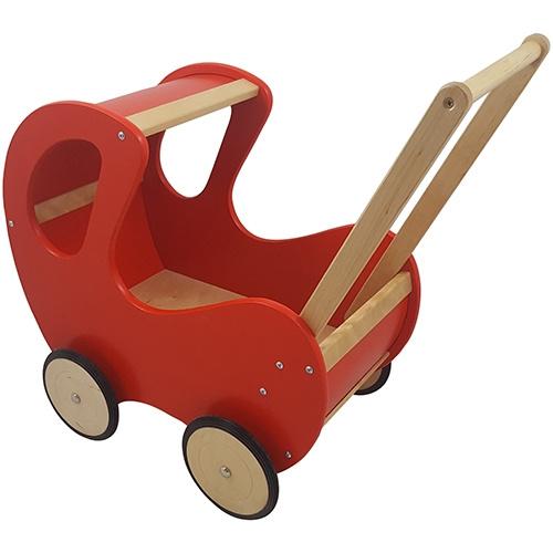 Poppenwagen Rood Klassiek