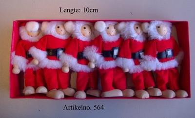 Buigpoppen set 6-Delig Kerstman