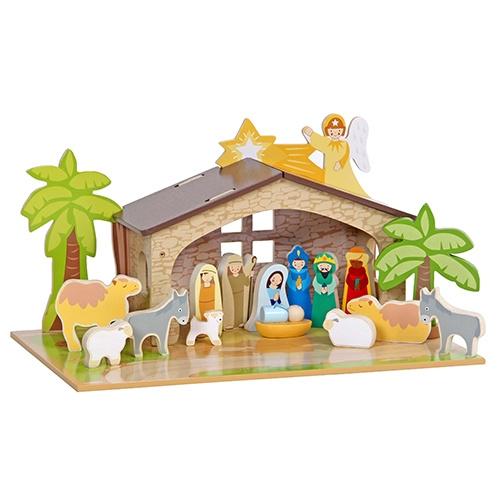 Kerststal met Grondplaat Mentari 3543
