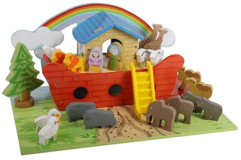 Ark van Noach Inclusief grondplaat en Dieren