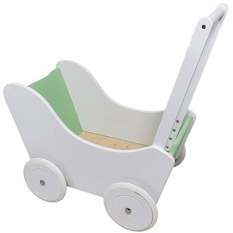 Poppenwagen Wit / Groen