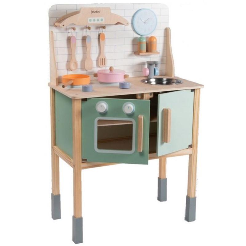 Keukentje Kinderkeuken Groen / Blank