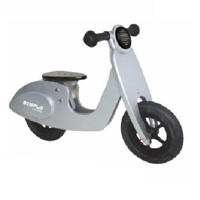 Houten Loopfiets Scooter Zilver Simply