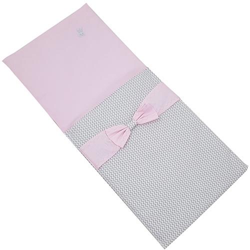 Poppenwagen Dekje Elegance Grijs / Roze
