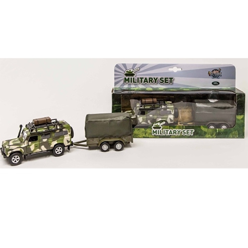 Die-Cast Landrover Military Defender Pull Back 52.0027