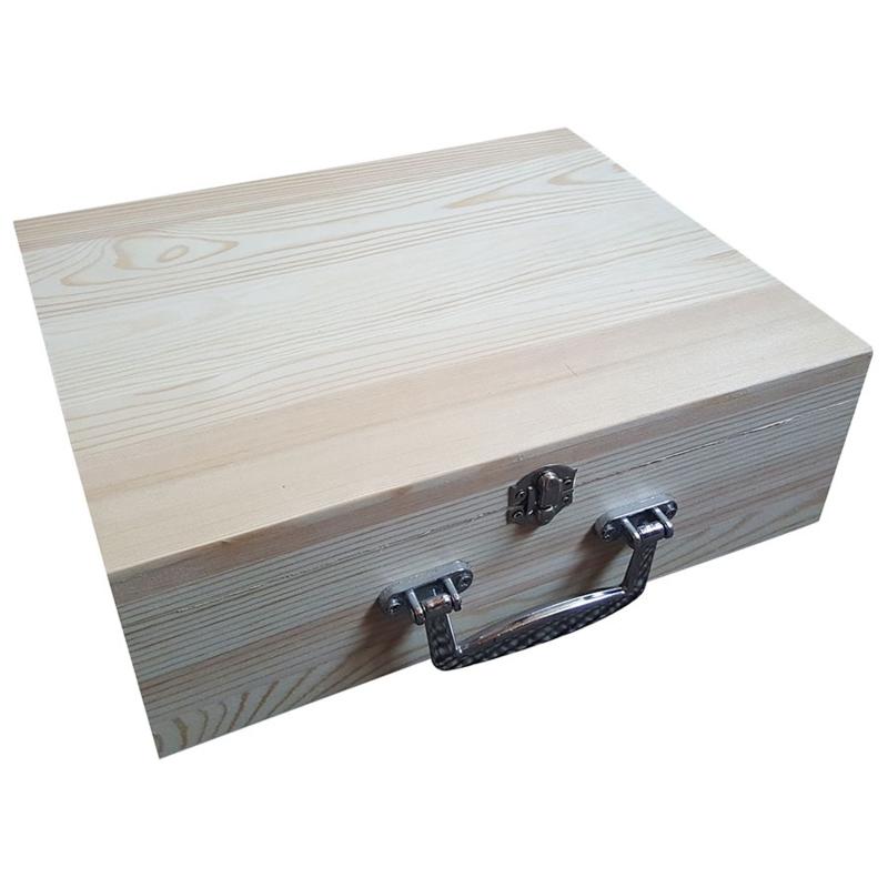 Kist /Koffer met Metalen Handvat Grenen (7775)