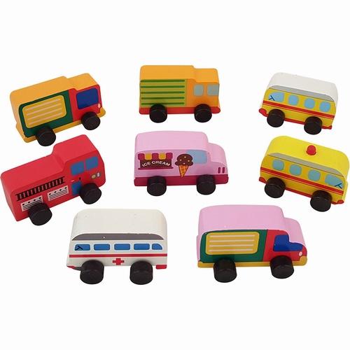 8 Autootjes verschillende modellen