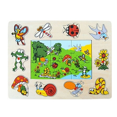 Houten Puzzel Insect