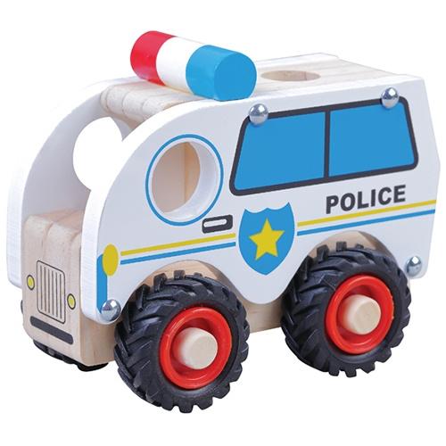 Politieauto met Rubberen Wielen
