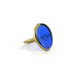 ring - Nthongo ring blue by Made Kenya