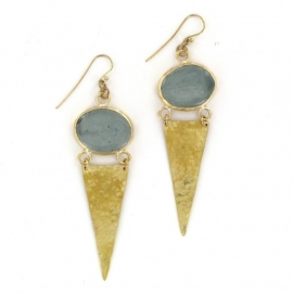 oorhanger - Metho Earrings grey by Made Kenya
