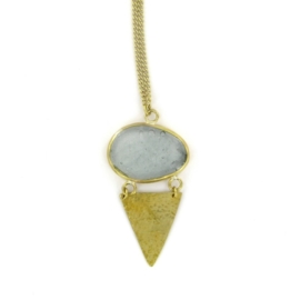 collier - Yetho pendant grey by Made Kenya