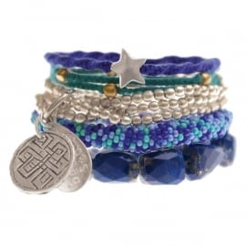 armband - Wish on a star blue bracelet