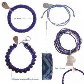 armband - Twist blue bracelet