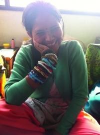 armband - Milipede dark brown bracelet