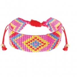 armband - Calli pink Aztec bracelet