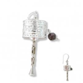 Fijn zilveren hangertje, oorbel of bedel