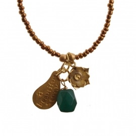 ketting met hanger - Anju Copper Buddha charm necklace