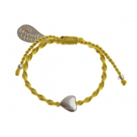 armband - From the heart yellow bracelet